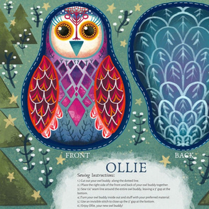 OLLIE - Owl Buddy - Cut and Sew Project