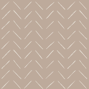freehand chevron on doeskin brown by erin kendal