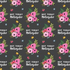 MATURE - Not Today Motherfucker Grey Back
