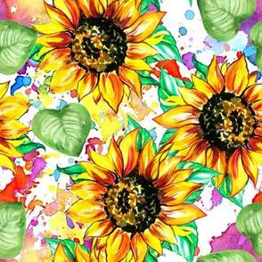 Sunflower colors watercolor