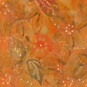 Bohemian Indian  Summer Garden - Watercolour - Warm Amber