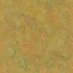 Watercolor Autumn Garden - Olive Wash