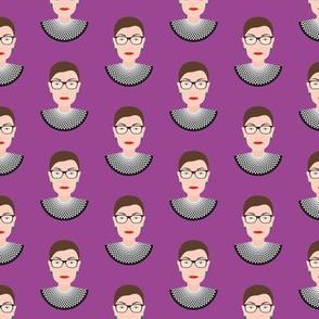 RBG - Ruth Bader Ginsburg - Bust Royal Purple