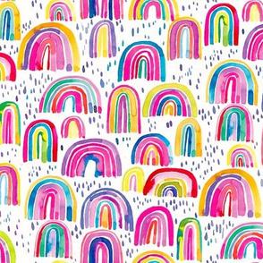 Rainbows watercolor Multicolored