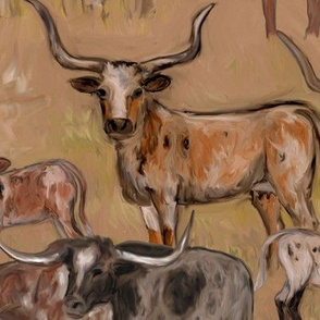 Moo Dy Texas Longhorn Cattle Cows Calves and Steers