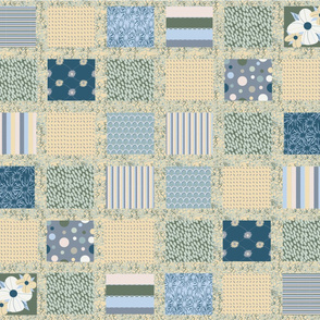 Serenity Patchwork - Green and Yellow