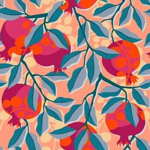 Retro pomegranate / Large scale