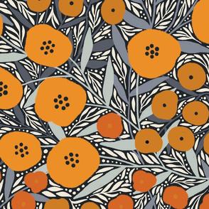 Eloise floral (orange)