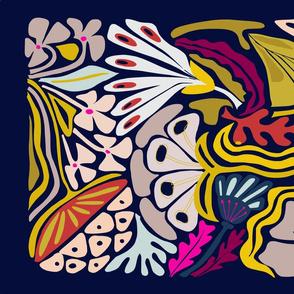 Playful flowers illustration - Tea Towel