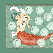 2021 Mermaid Tea Towel Calendar