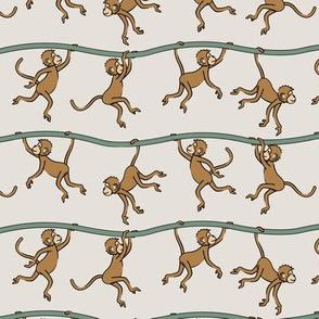 (small scale) monkeys - cute monkey - tan - LAD20