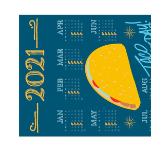 taco Tuesday tea towel - 2021