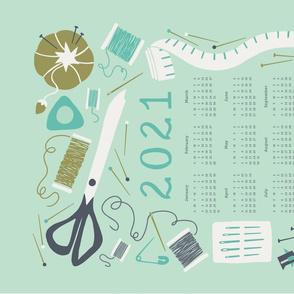 Sewing Room Calendar 2021 Tea Towel
