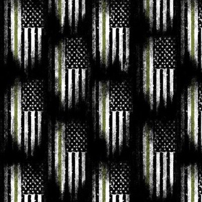 US Army - thin green line flag - military