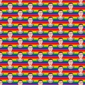 RBG - Ruth Bader Ginsburg - Pride Flag - Tiny