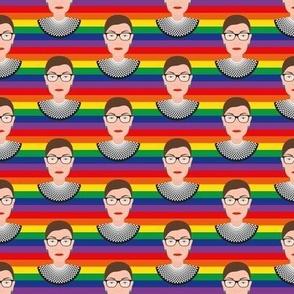RBG - Ruth Bader Ginsburg - Pride Flag - Med
