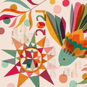Joy Hope and Peace 2021 Calendar Tea Towel