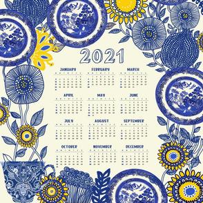 2021 Blue Willow Tea Towel