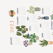 Plant Hoarder 2021 Calendar Tea Towel