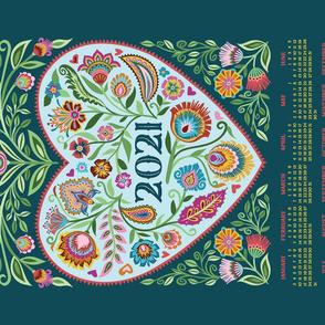 2021 Healing Heart Tea Towel Calendar