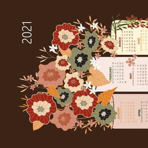 2021 tea towel calendar