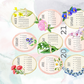2021 birth flowers tea towel calendar