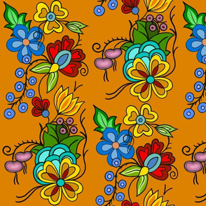 Ojibwe florals Orange