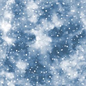 Cold snow winter Blue