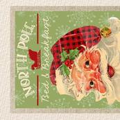 Vintage Travel North Pole Tea Towel