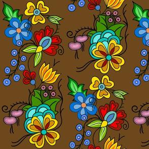 Ojibwe Floral Brown