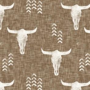 desert skulls - boho - southwest cow skull - light brown - LAD20BS