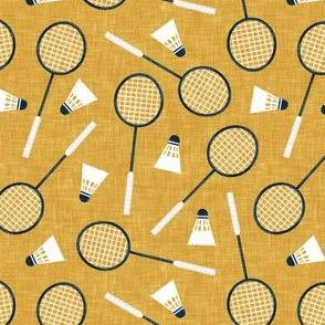 Badminton Rackets and birdies - shuttlecock & racquets - yard games birdie - yellow - LAD20
