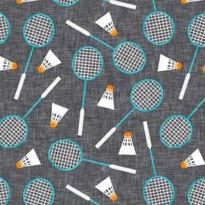 Badminton Rackets and birdies - shuttlecock & racquets - yard games birdie - grey - LAD20