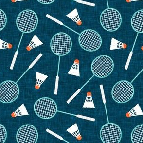 Badminton Rackets and birdies - shuttlecock & racquets - yard games birdie - blue - LAD20
