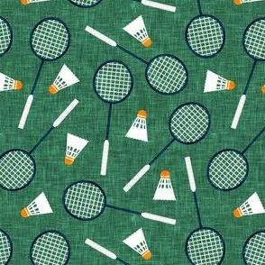 Badminton Rackets and birdies - shuttlecock & racquets - yard games birdie - green - LAD20