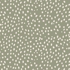 Retro Park Organic Speckle Marks // Shell on Meadow Green