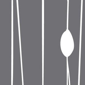 Entangled - Geometric Lines Grey Jumbo Scale