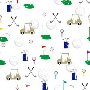 Golf with White Background