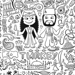 Turkish Ornament. Travel to Turkey.