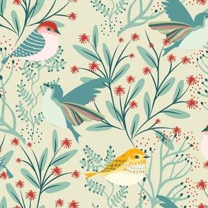 Backyard Winter Birds Garabateo