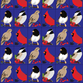Winter Bird Postage Stamps