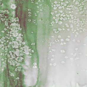 Abstract Watercolor on Green
