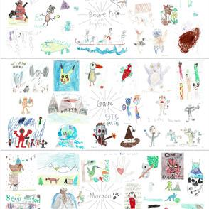 Brown Kids Artwork Blanket-01