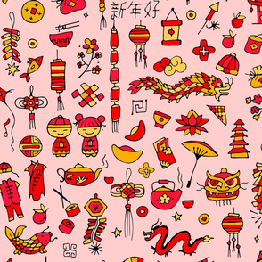 Travel to China! Culture and Traditions Pattern