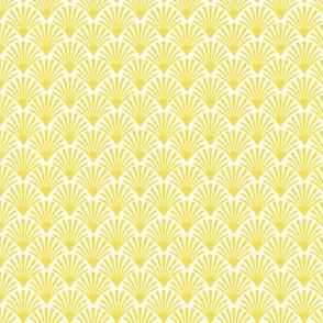 illuminating yellow shells, art deco yellow