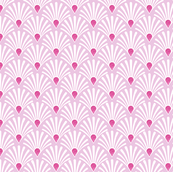 seashell pink art deco shell fan with hot pink