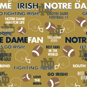 Notre Dame-Gold Background
