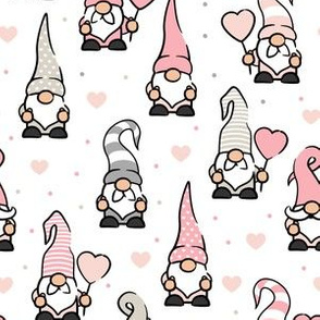 Valentine Gnomes - pastels - cute gnomes - LAD20