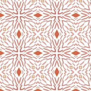 Wavy Coral Geometric on White