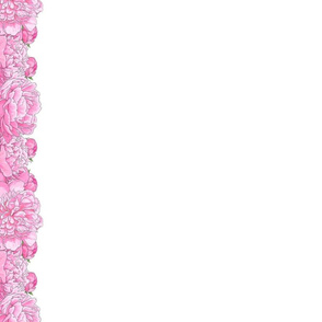 """Large Pink Flowers 2.5"""" Border for 42"""" Wide Fabric"""